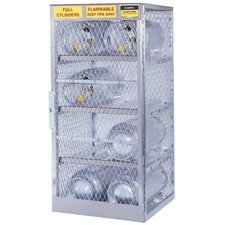 Aluminum Cylinder Lockers - horizontal 6 cylinderlocker