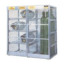"X 60"" X 32"" Combo Cylinder Storage Locker For Flammables (Capacity 8 Horizontal And 10 Vertical Cylinders)"