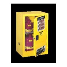 "X 23 1/4"" X 18"" Yellow 15 Gallon Compac Sure-Grip® EX Safety Cabinet With 1 Manual Door And 1 Shelf"