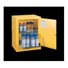 "X 21"" X 18"" Yellow Aerosol Can Bench Top Safety Cabinet With 2 Sure-Grip® Self-Latching Doors And 2 Easy Roll-Out Shelves"