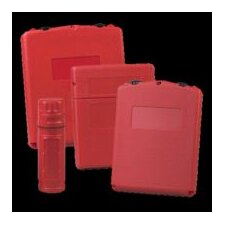"3/4"" X 13.375"" X 3.5625"" Red Plastic Document Storage Box With Large Front Opening"