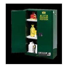 "X 23 1/4"" X 18"" Green 12 Gallon Compac Sure-Grip® EX Safety Cabinet For Pesticides With 1 Self-Closing Door And 1 Shelf"