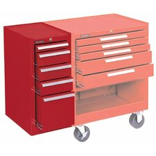 Hang-On Cabinets - 10407 hang-on cabinet 5-drawer red