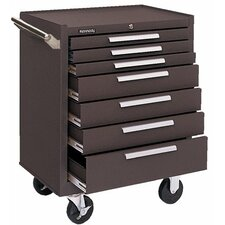 Industrial Series Roller Cabinets - 00608 roller cabinet 7 drawers brown