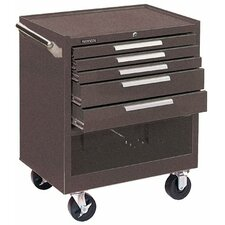 Industrial Series Roller Cabinets - 00612 roller cabinet 5 drawer brown