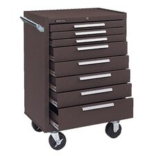 Industrial Series Roller Cabinets - 00618 roller cabinet 8 drawers brown