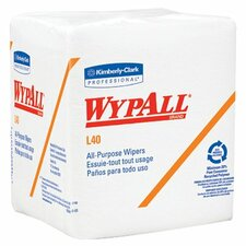 "WypAll® L40 Wipers - 12.5""x14.4"" white q-foldwypall wiper 56/pk"