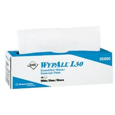 "WypAll® L30 Wipers - 9.8""x16.4"" white economizer wipe 1-ply 100/b"