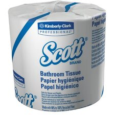 Scott® Standard 1-Ply Toilet Paper - 1210 Sheets per Roll / 80 Rolls per Case