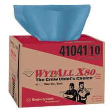 WypAll® X80 Towels - wypall x80 blue wiper 160 sheets per box