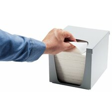 Quaterfold Wiper Dispensers - 1/4 folded wiper dispenser grey
