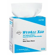 WypAll® X60 Wipers - 9.1x16.8 terry wiper wipes 126 sh. per box