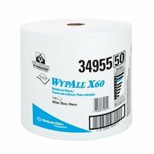 WypAll® X60 Wipers - wypall x60 teri wiper jumbo roll wht 1 100 per r