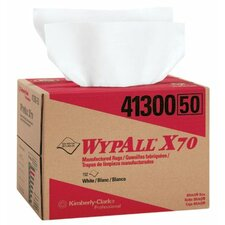 "WypAll® X70 Workhorse® Rags - 12""x16.75"" white workhorse 1-ply rag 150/box"