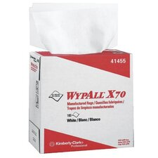 "WypAll® X70 Workhorse® Rags - 9.75""x16.75"" white workhorse 1-ply mfg rag 100"