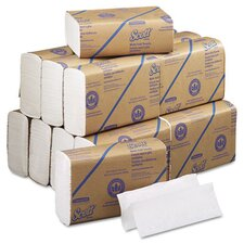 Professional Scott Multifold 1-Ply Paper Towels - 250 Towels per Pack / 16 Rolls per Carton