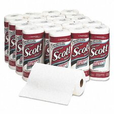 Professional Scott Perforated Kitchen 1-Ply Paper Towels - 128 Sheets per Roll / 20 Rolls per Carton