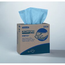 Kimtech Prep Kimtex Wipers, Pop-Up Box in Blue