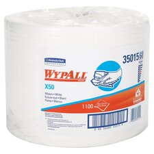 <strong>Kimberly-Clark</strong> Wypall X50 Wipers Jumbo Roll Perforated in White