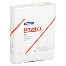 Wypall X50 Wipers quarter fold in White