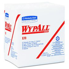 Wypall X70 Wipers Quarter Fold, 76/Pack in White