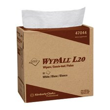 Wypall L20 Wipers, Pop-Up Box in White