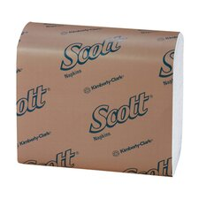 Scott Tall-Fold Dispenser Napkins in White