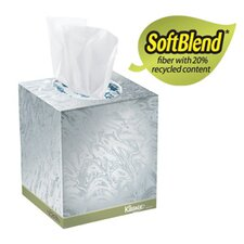 <strong>Kimberly-Clark</strong> Kleenex Naturals Boutique Facial Tissue, 20% Recycled, 95/Box, White
