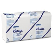 Kleenex Scott fold Paper Towels in White