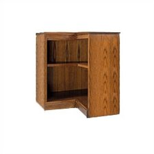 "200 Signature Series 30"" H Two Shelf Inside Corner Bookcase"