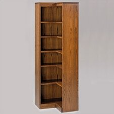 "200 Signature Series 48"" H Four Shelf Inside Corner Bookcase"