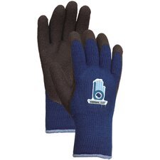 Extra Extra Large Blue Thermal Knit Gloves With Rubber Palm C4005XX