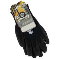 Extra Large Black Double Lined Thermal Knit Gloves C4001BKXL