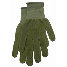 Large Green Women's Dotted Bamboo Knit Gloves G118TL