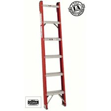 6' FH1000 Series Classic Shelf Straight Ladder