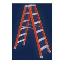 Type IA Non-Conductive Fiberglass Twin Front Stepladder, 300 Pound Work Load Capacity