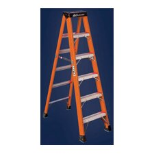 Type IAA Non-Conductive Fiberglass Stepladder, 375 Pound Work Load Capacity
