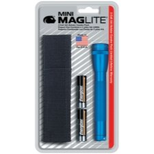 Mini Mag-Lite 2- Cell AA Flashlight w/Batteries and Holster (Blue)