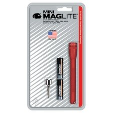 Mini Mag-Lite 2- Cell AAA Flashlight w/Batteries (Red)