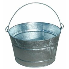 <strong>Magnolia Brush</strong> Galvanized Round Tubs - 16.91qt galvanized tub