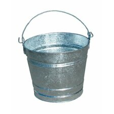 Galvanized Pails - 24.04qt galvanized pailhot dipped (Set of 12)