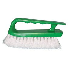<strong>Magnolia Brush</strong> Handle Scrub Brushes - crimped white polypropylene handle scru