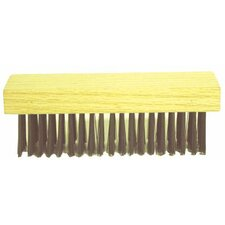 Straight Handle Scratch Brushes - blong blksteel wire (Set of 12)