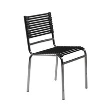 Bungie-S Flat Stacking Chair in Black (Set of 4)