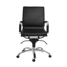Gunar Pro Low-Back Leatherette Office Chair with Arms