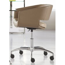 Amelia Low-Back Leatherette Office Chair with Arms