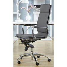 Gunar Pro High-Back Leatherette Office Chair with Arms