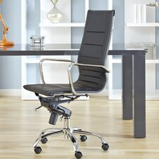 Owen Low-Back Leatherette Office Chair with Arms