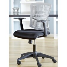 Finley Mid-Back Leatherette Office Chair with Arms