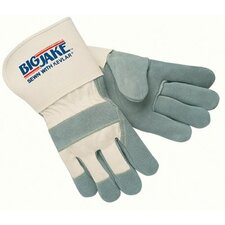 "Heavy-Duty Side Split Gloves - large big jake 4-1/2"" gauntlet cuff full featur"